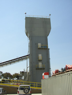 Erie Cement Bin and Feed Conveyor