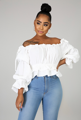 Baby Doll Ruched Top
