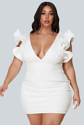White Bombshell Kurvy Dress