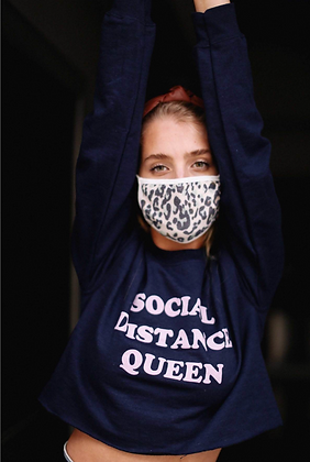 Social Distance Queen Crop Top