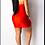 Thumbnail: Mini fille d'anniversaire en satin rouge