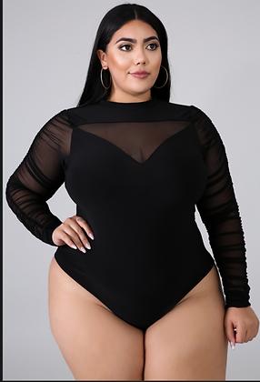 Black Panel Kurvy Bodysuit