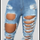 Thumbnail: Peek A Boo Denim Shorts