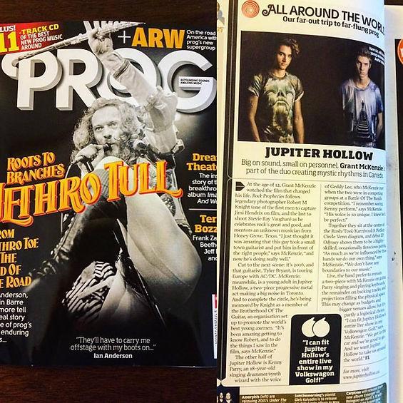 Jupiter Hollow featured in Prog Magazine.