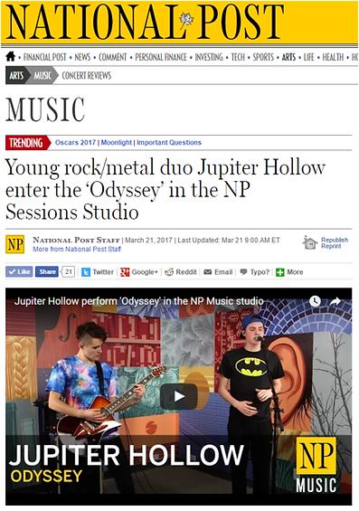Jupiter Hollow live at the Nationa Post, Toronto, Canada.