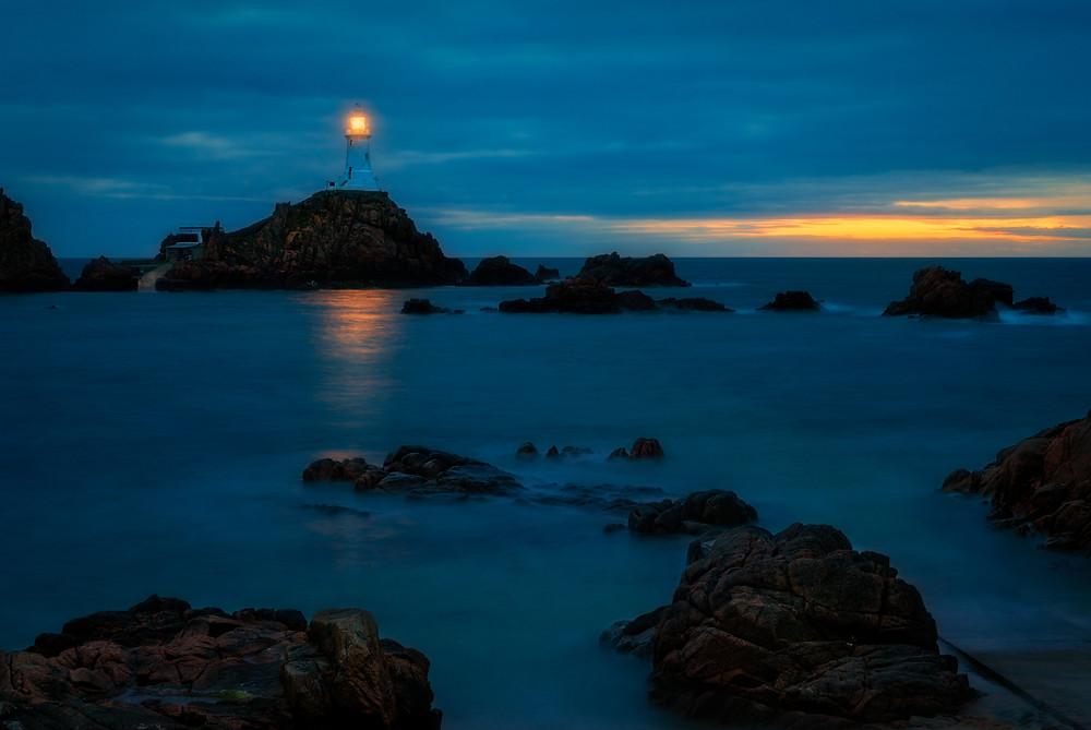 La Corbiere lighthouse at blue hour
