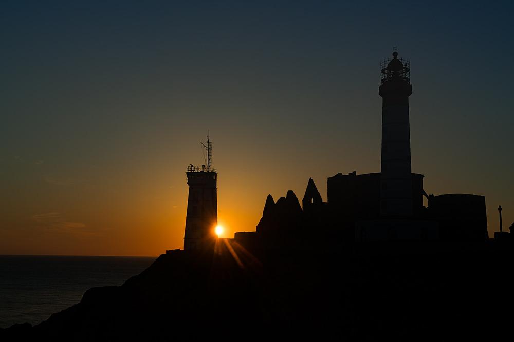 Point St. Mathieu at sunset