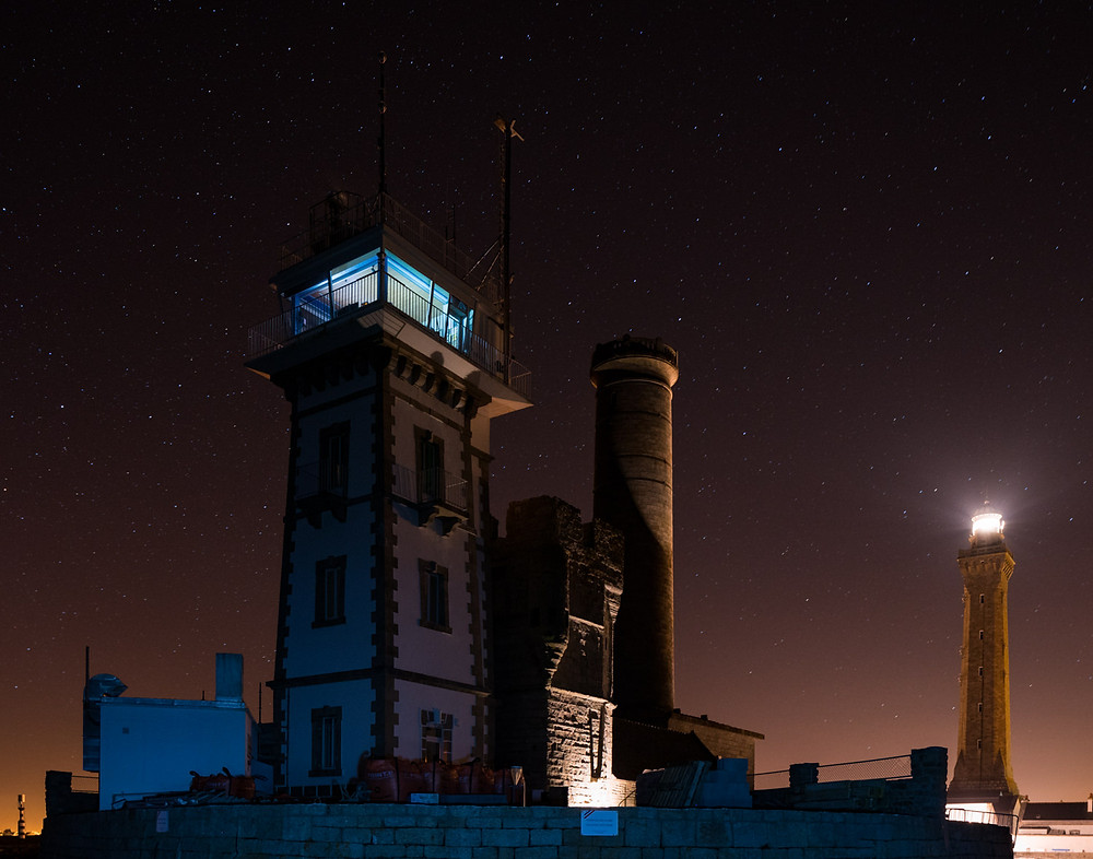 Eckmuhl lighthouse and its surrounding at night