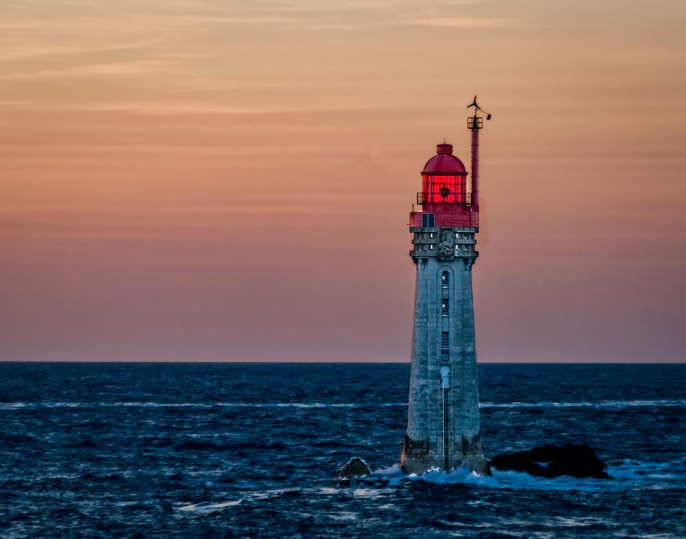 St. Malo lighthouse at sunset