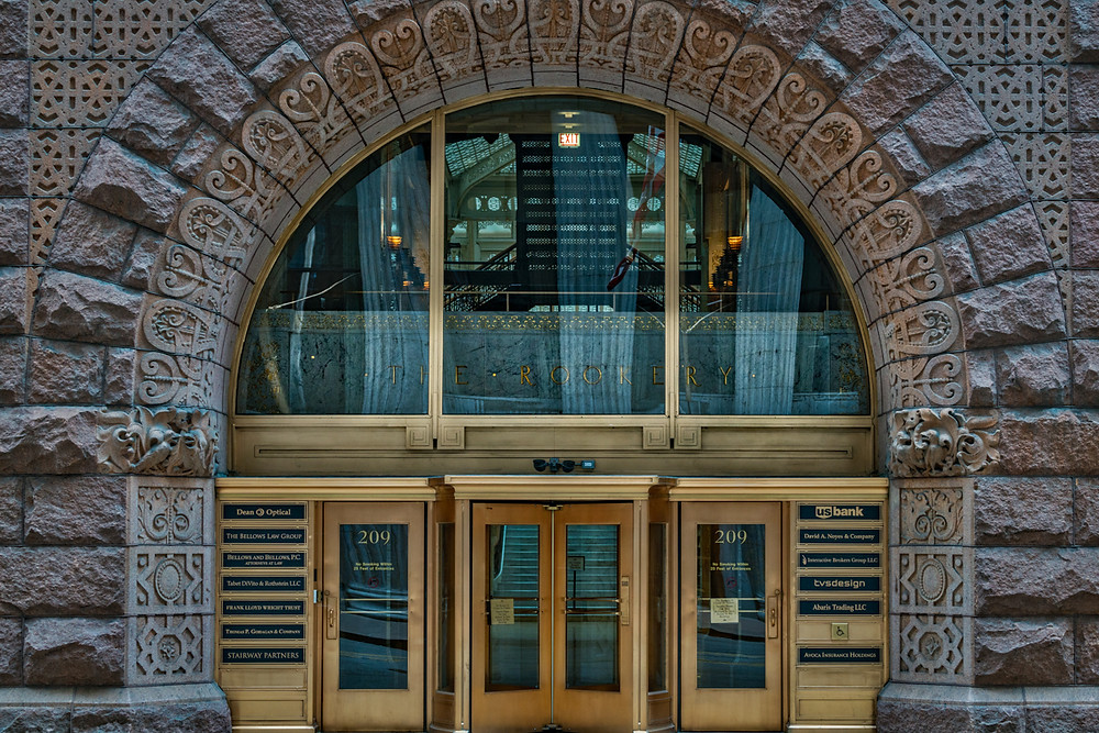 The Rookery building entrance