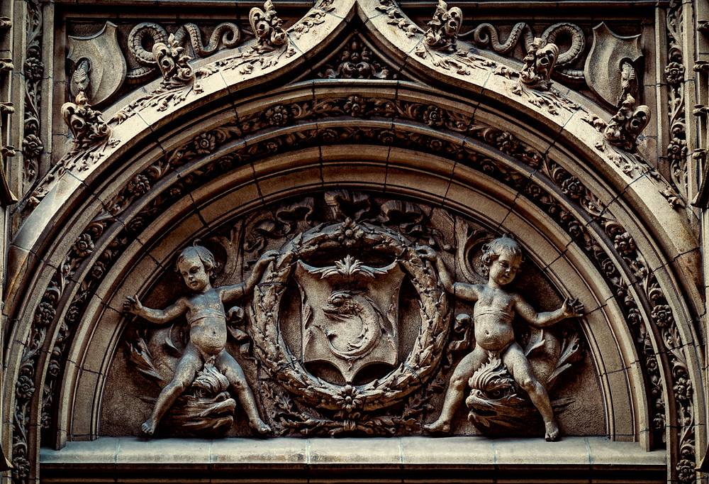 Fisher building decorative entrance