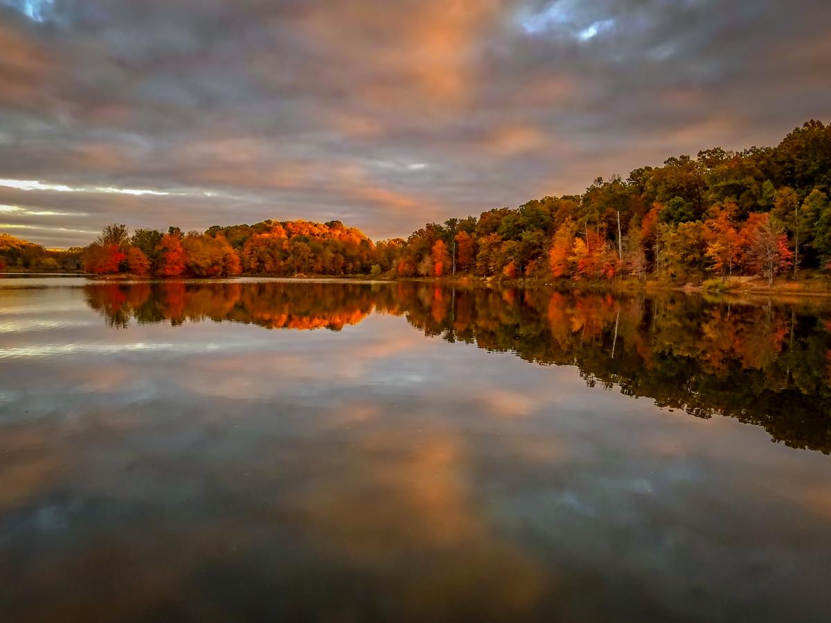 Autumn colors at sunrise