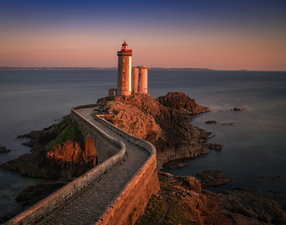 Petit Minou lighthouse at sunset