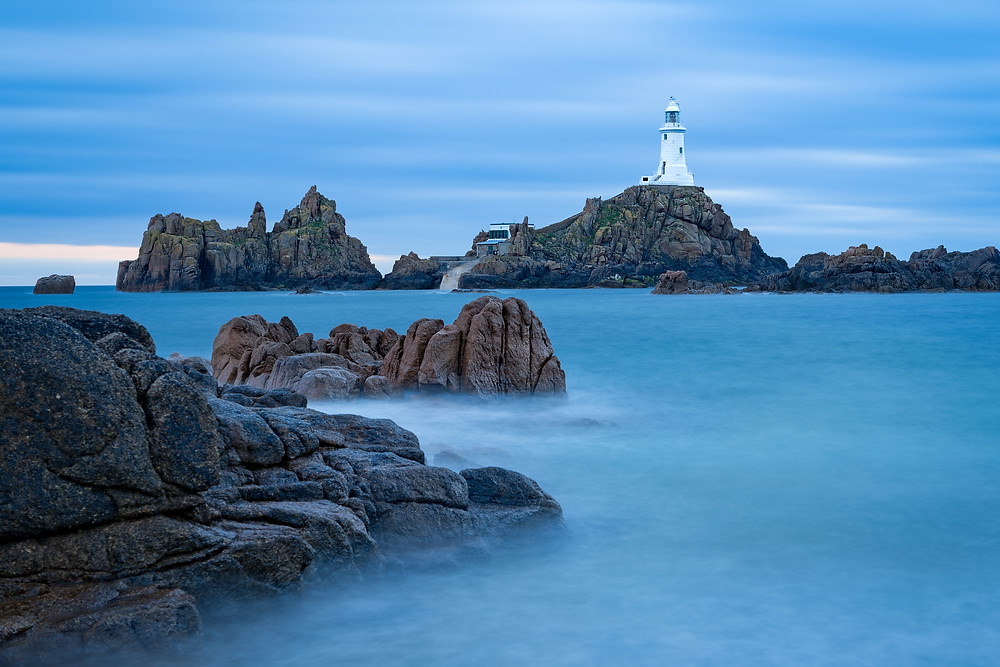 La Corbiere lighthouse at high tide