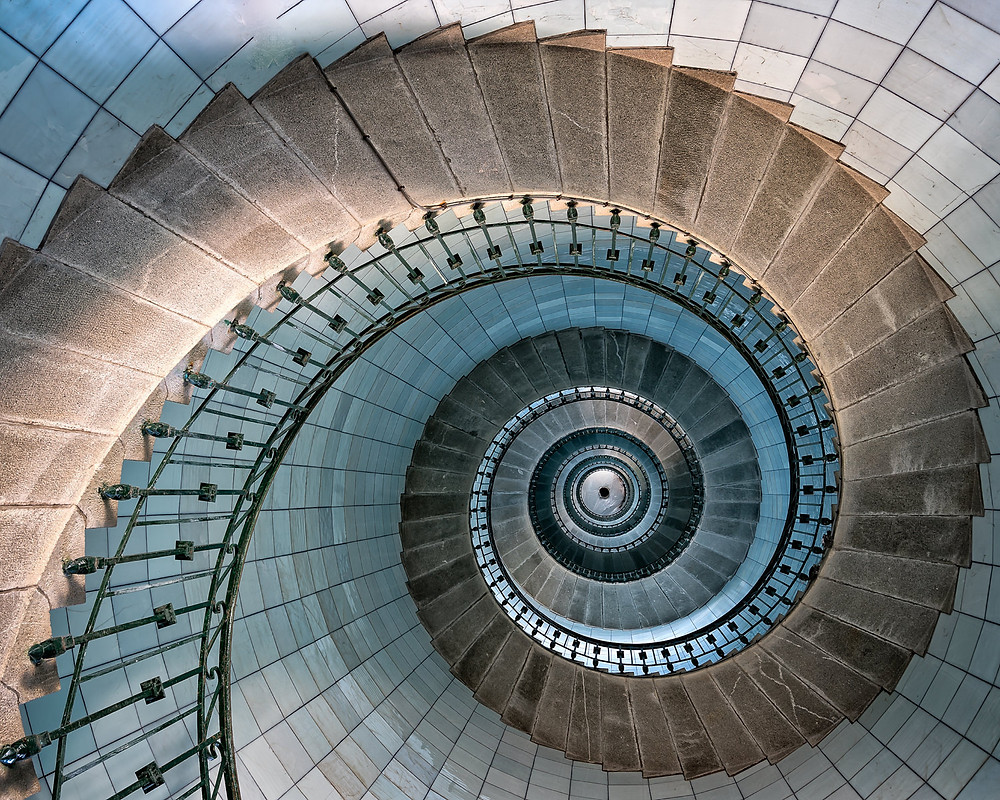 Vierge Lighthouse spiral staircase