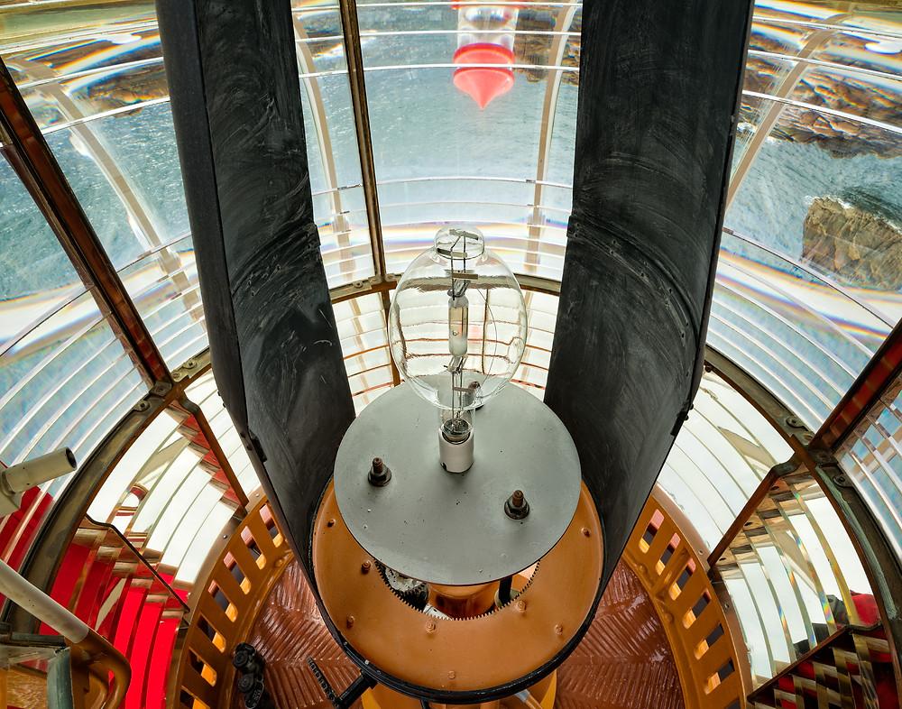 La Corbiere lighthouse lens
