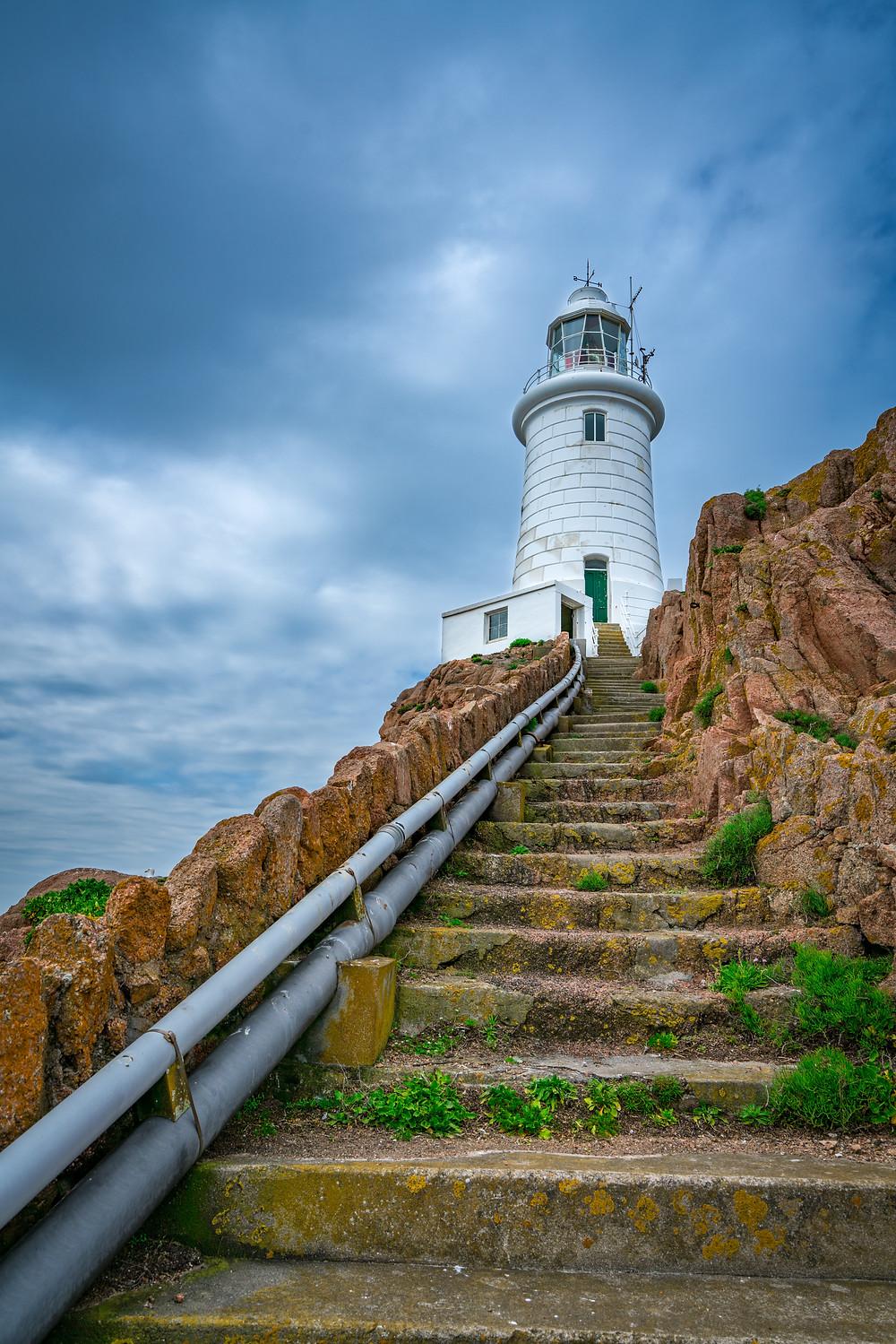 Steps to the La Corbiere lighthouse