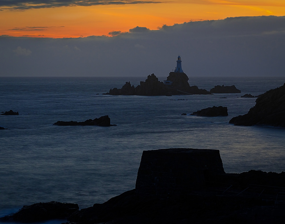 La Corbiere lighthouse at sunset