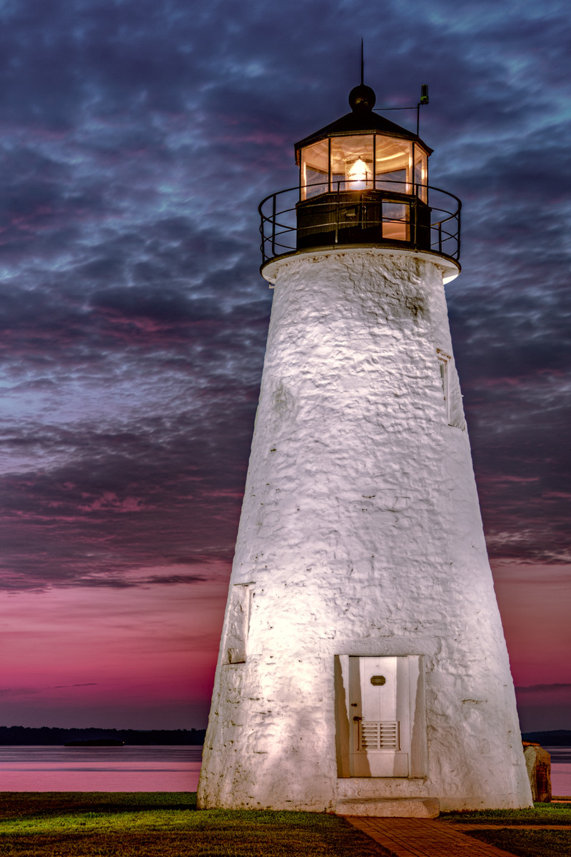 Concord Point lighthouse at sunrise