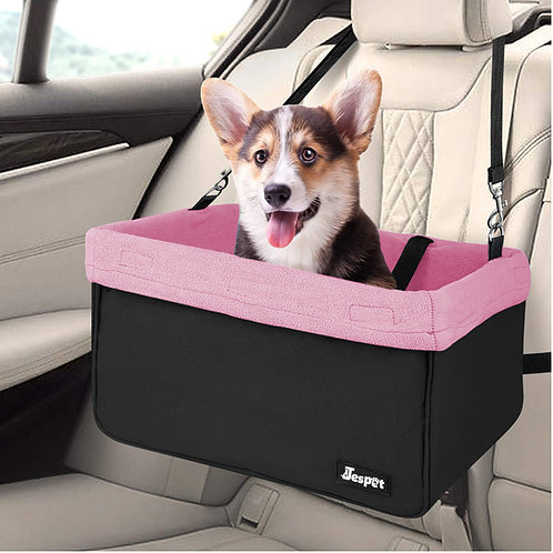 Deluxe Pet Safety Booster Car Seat, Pink