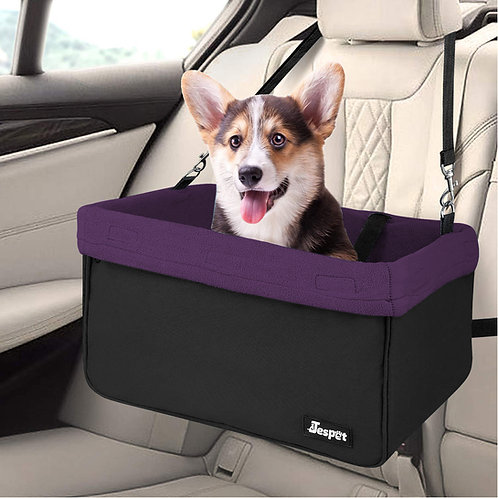 Deluxe Pet Safety Booster Car Seat, Purple
