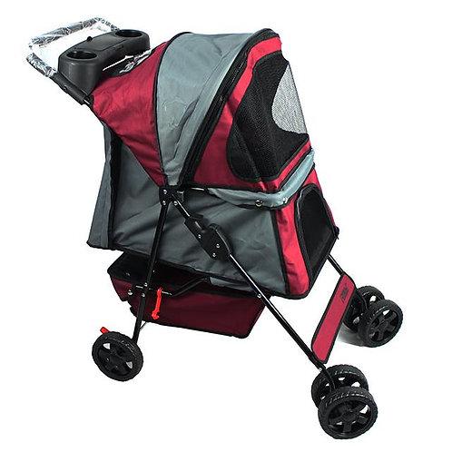Jespet 4 Wheel Pet Stroller, Red, 36-in