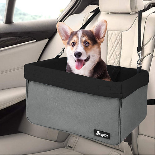 Deluxe Pet Safety Booster Car Seat, Black