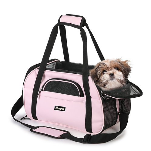 "17""&19"" Soft Sided Pet Carrier Comfort for Travel Pink"