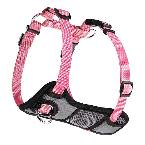 JESPET Pink Dog Harness No Pull with Adjustable Straps for Behavior Training