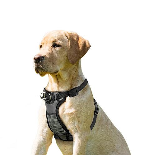 JESPET Black Dog Harness No Pull with Adjustable Straps for Behavior Training
