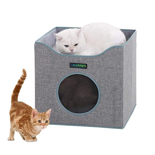 GOOPAWS Foldable Cat Condo