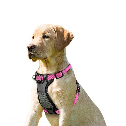 JESPET Pink Dog Harness No Pull with Adjustable Straps for Behavior Training