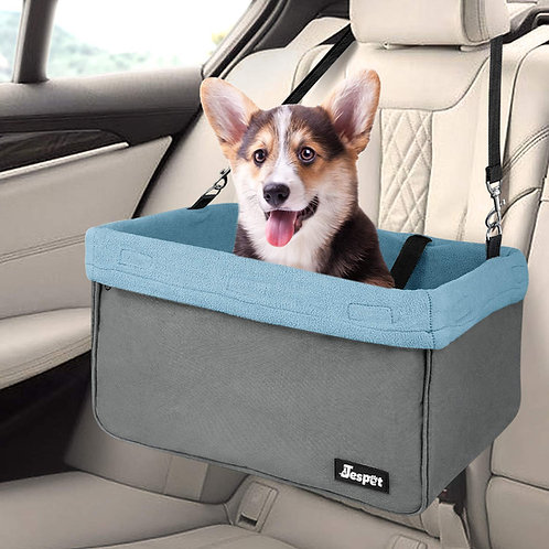 Deluxe Pet Safety Booster Car Seat, Gray