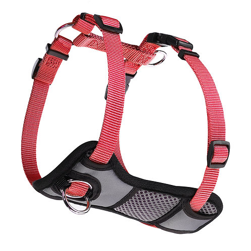 JESPET Red Dog Harness No Pull with Adjustable Straps for Behavior Trai