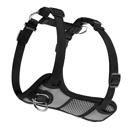 JESPET Gray Dog Harness No Pull with Adjustable Straps for Behavior Training