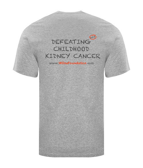 Mens Tee's: Slogans/ Defeating Childhood Kidney Cancer (Light Grey)