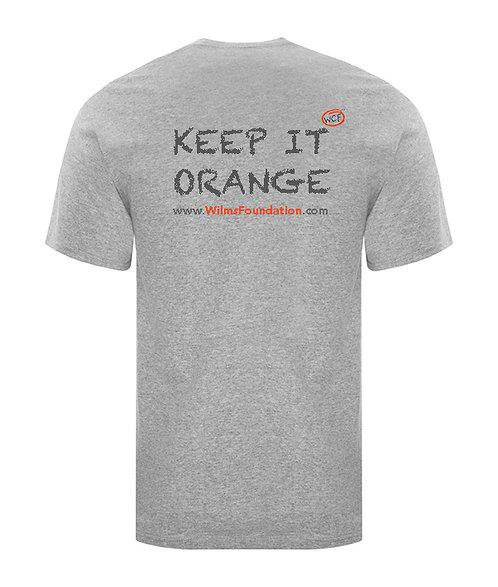 Mens Tee's: Slogans/ Keep It Orange (Light Grey)