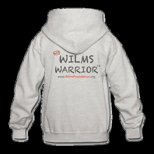 Childrens Hoodie: Slogan/ Wilms Warriors™ (Light Grey)