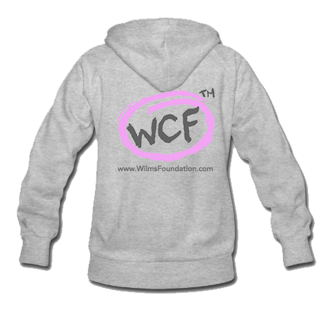 Ladies Hoodie: Classic WCF Icon/ Pink (Light Grey)