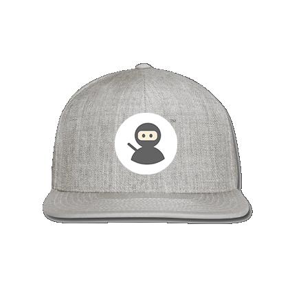 Snap-back Baseball Cap: Wilms Warriors™/ Ninja / White/ Black (Light Grey)