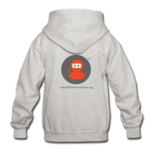 Childrens Hoodie: Wilms Warriors™/ Ninja/ Grey/ Orange (Light Grey)