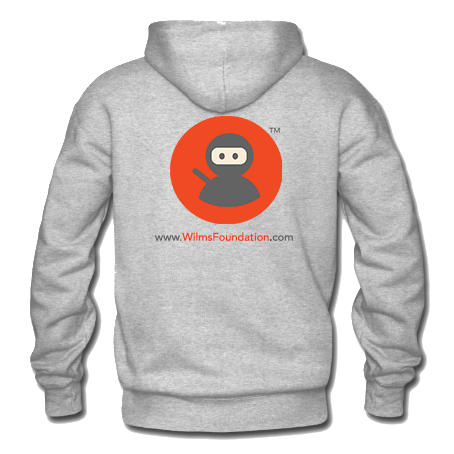 Mens Hoodie: Wilms Warriors™/ Ninja/ Orange/ Grey (Light Grey)