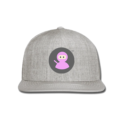 Snap-back Baseball Cap: Wilms Warriors™/ Ninja / Grey/ Pink (Light Grey)