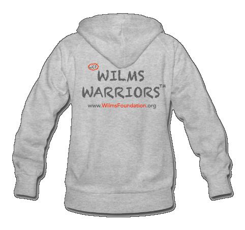 Ladies Hoodie: Slogan/ Wilms Warriors™ (Light Grey)