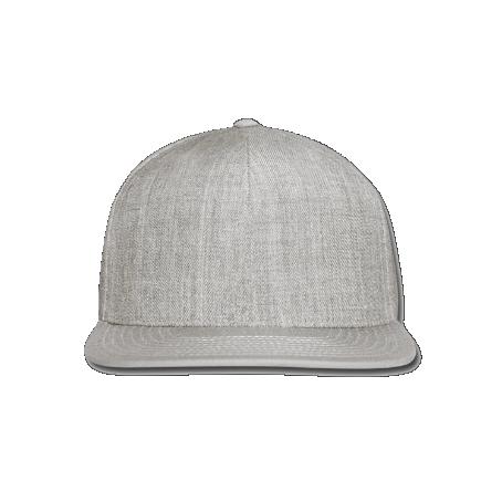 Snap-back Baseball Cap: URL/ Pink/ Grey (Light Grey)