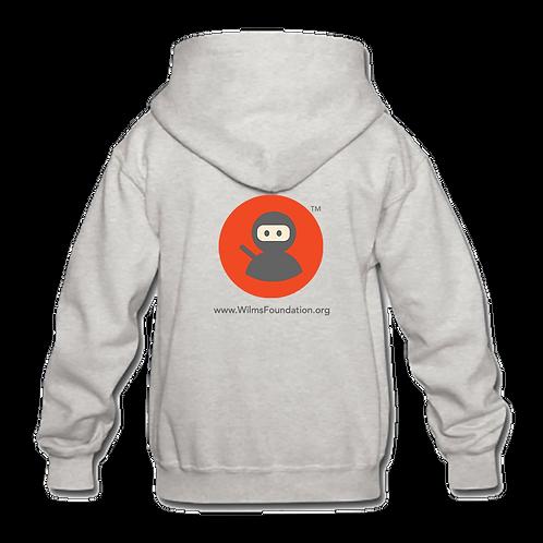 Childrens Hoodie: Wilms Warriors™/ Ninja/ Orange/ Grey (Light Grey)