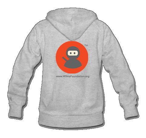 Ladies Hoodie: Wilms Warriors™ / Ninja/ Orange/ Grey (Light Grey)