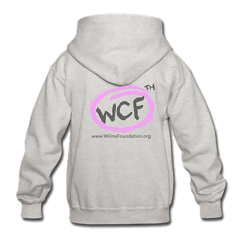 Childrens Hoodie: Classic WCF Icon/ Pink (Light Grey)