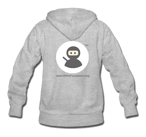 Ladies Hoodie: Wilms Warriors™ / Ninja/ White/ Black (Light Grey)