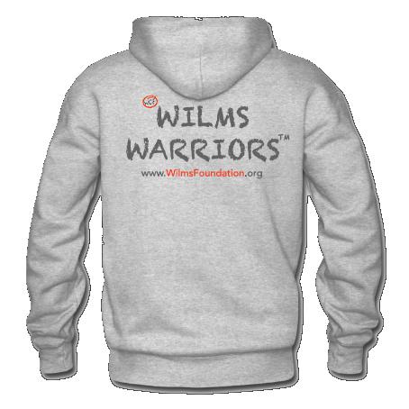 Mens Hoodie: Slogan/ Wilms Warriors™ (Light Grey)